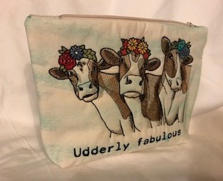 Udderly Fabulous zippered bag