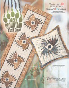 Rocky Mountain Bear Claw Tablerunner and Pillows