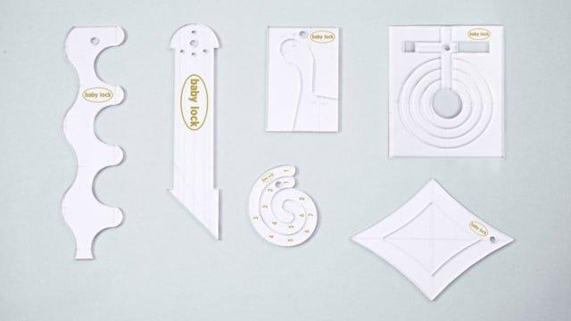 Babylock Ruler Kit 1/4 for High Shank
