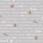 We Whisk You A Merry Christmas - Baking Phrases - Gray