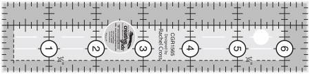 Creative Grids Quilt Ruler 1 1/2 in x 6 1//2