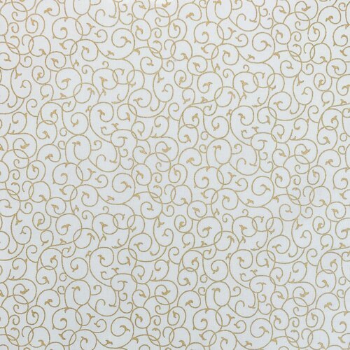 Christmas Tradition 284 Swirl Ivory Gold