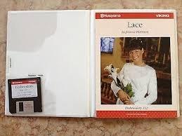 Card 112 - Embroidery Lace (d-card) by Jeanne Harrison - Husqvarna -(Rack 1 Shelf 1)
