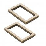 Rectangle Rings Antique Brass 1 Flat