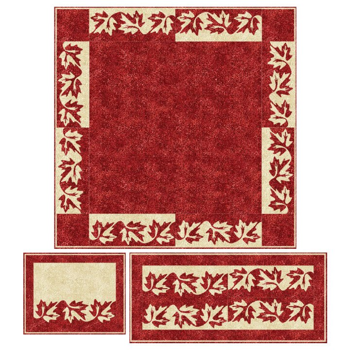 Canadian Table Topper and Placemats