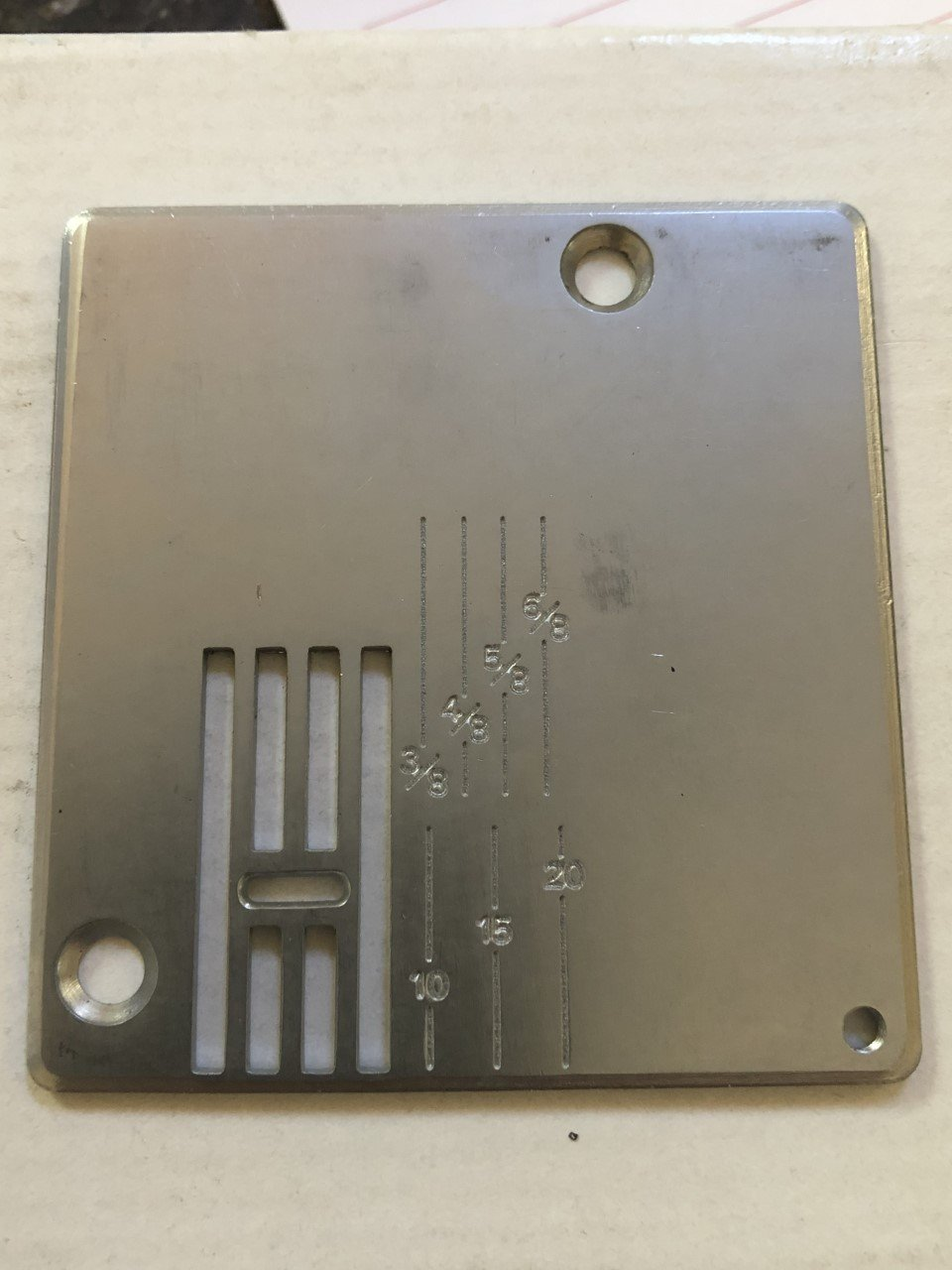 Needle Plate for White Zigzag
