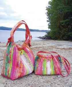 Aunties Two Patterns Bailey Island Hobo Bag
