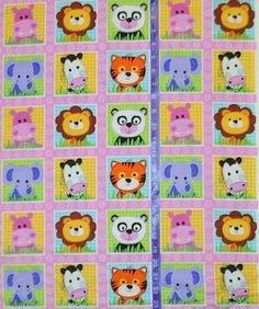 Wild Thing-Pink Animal Blocks