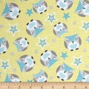 Sweet Dreams Little One yellow/owls