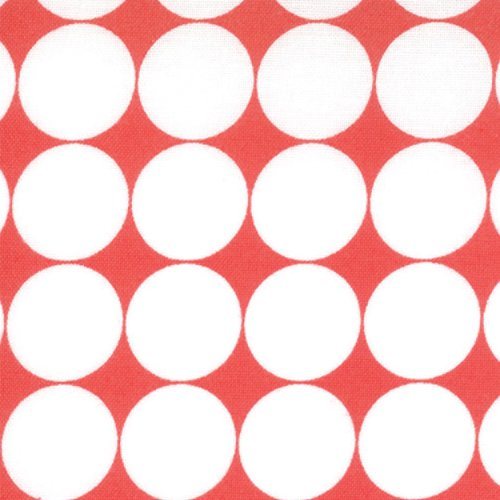 Hoopla-red with lg.white dots