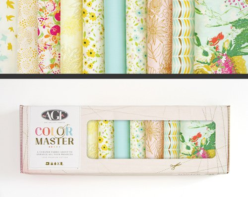 Color Master Gentle Spring Edition Fat Quarter Box -Art Gallery Fabrics