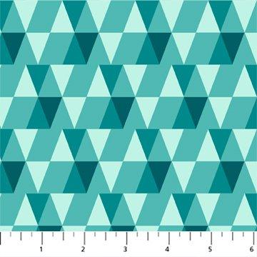 FIGO Peppermint Triangles Aqua
