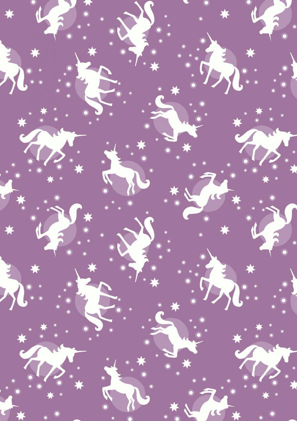 Fairy Nights Glow in the Dark - Unicorn Spots on Soft Blackberry