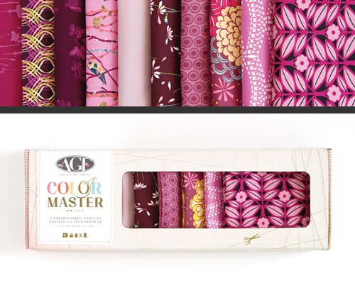 Color Master Vibrant Violet Edition Fat Quarter Box-Art Gallery Fabrics