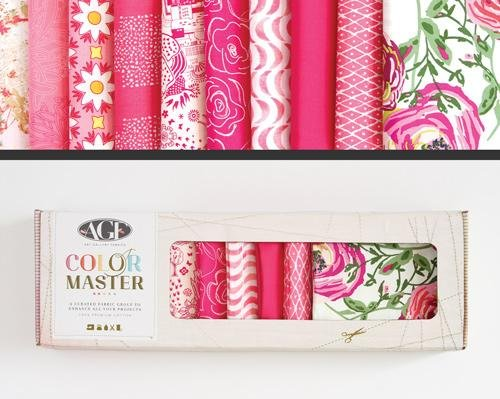 Color Master Life Is Pink Edition Fat Quarter Box-Art Gallery Fabrics