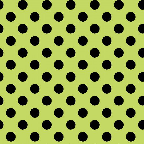 Broomhilda's Bakery Black Polka Dots on Green