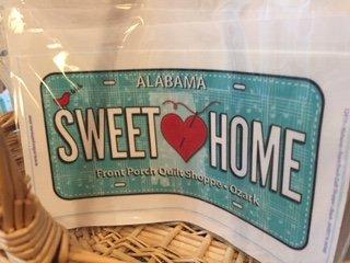 Sew Musical Sweet Home Alabama License Plate 2018
