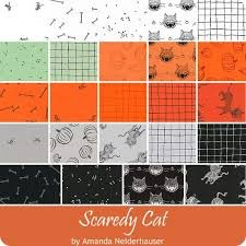 Scaredy Cat - Fat Quarter Bundle - 24pc