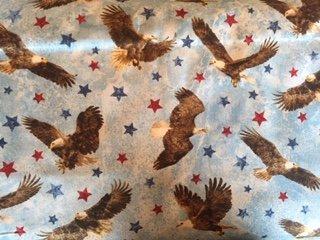 Stars & Stripes VII - Eagles on Blue