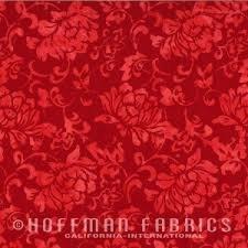 Hoffman Cherry Batik