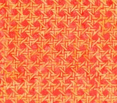 Hoffman Batik orange basket weave Batik