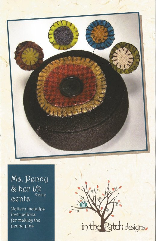 Ms. Penny & her 1/2 Cents Pin Cushion Kit