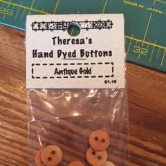 Theresa's Hand Dyed Buttons Antique Gold