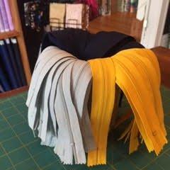 8 Zipper (Navy, Gray & Yellow)