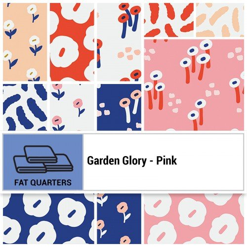 Garden Glory FQ Bundle - Pink