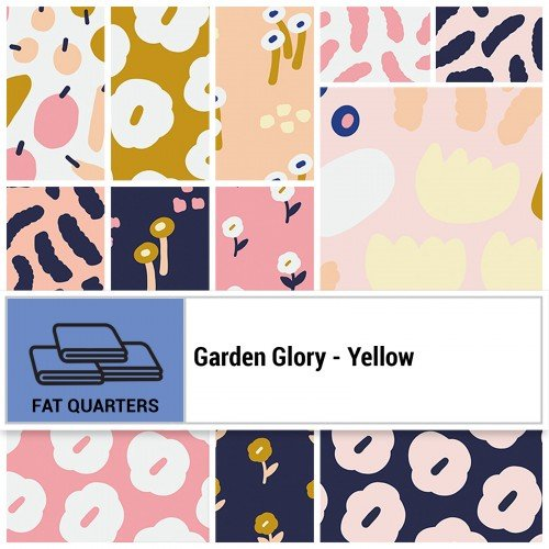 Garden Glory FQ Bundle - Yellow
