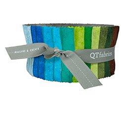 QT Fabrics Rapture Strips, cool colors 42 pieces