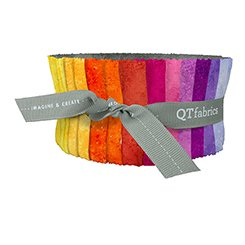 QT Fabrics Rapture Strips, warm colors 42 pieces