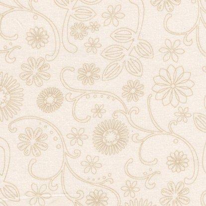 108 wide back  natural w/ beige floral