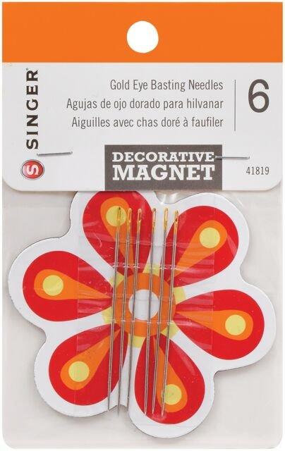 Singer Gold Eye Basting Needles w/ Decorative Magnet