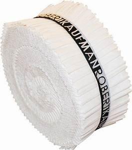 Kona Cotton 2.5 Strip Roll- White