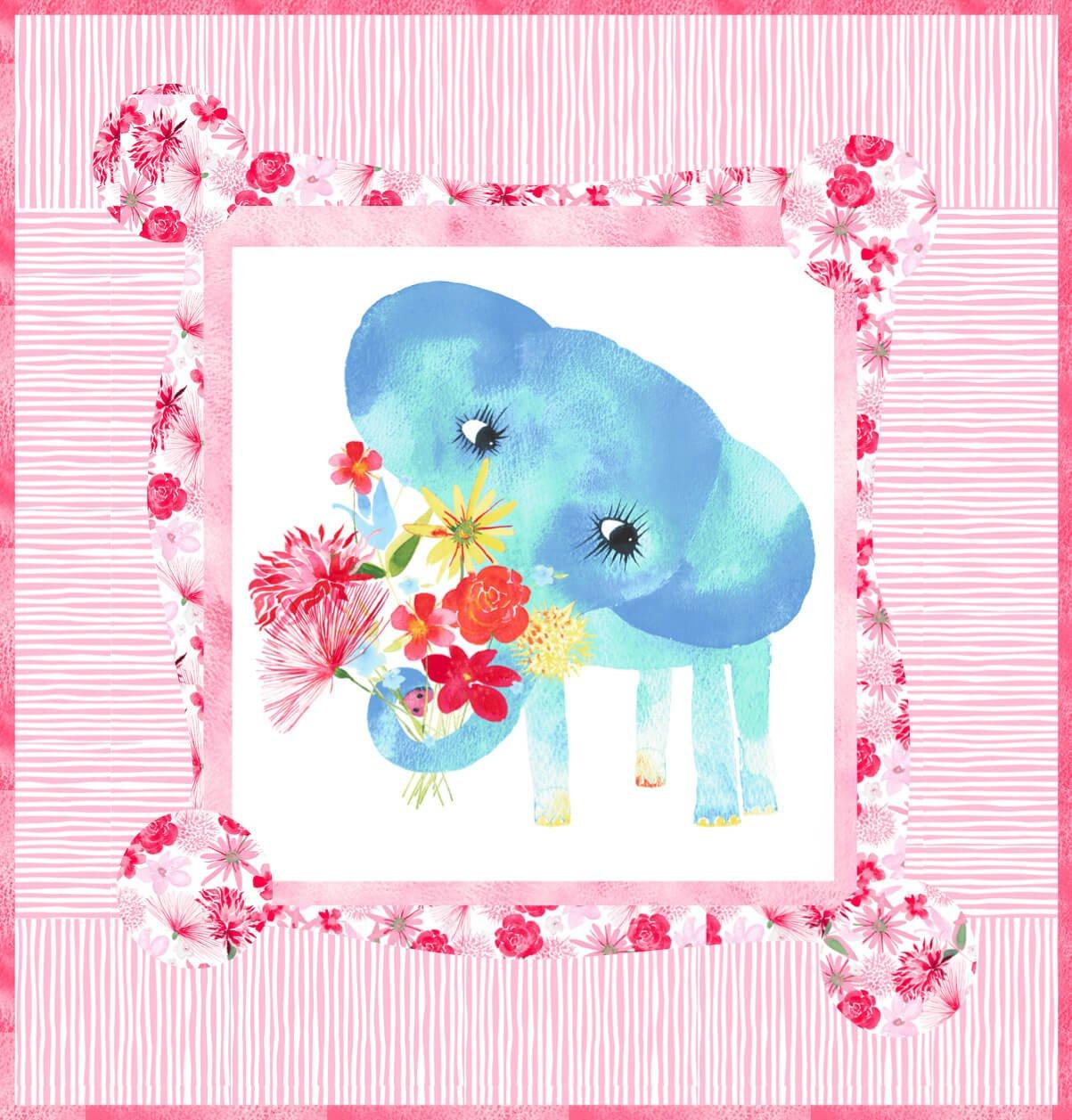 Baby Girl Elephant 32 x 32