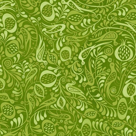 AZUIL- TONAL BIRDS GREEN
