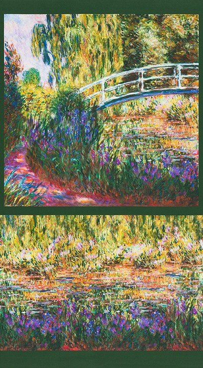 Claude Monet Bridge Panel