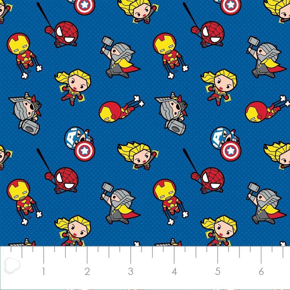 FLANNEL Marvel Kawaii Action Fabric 13020498H 02