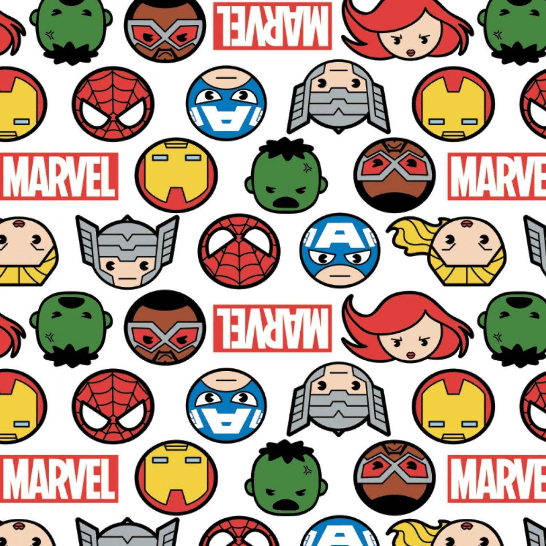 Heroes Faces & Logos Marvel Kawaii 13020997 01 White