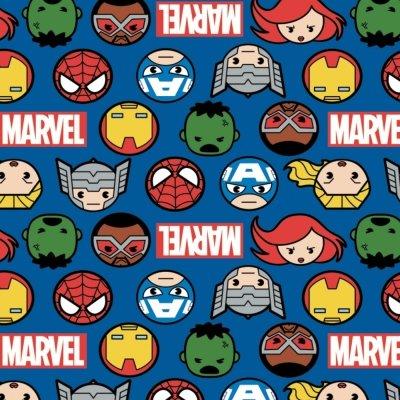 Heroes Faces & Logos Marvel Kawaii 13020997 02 Blue