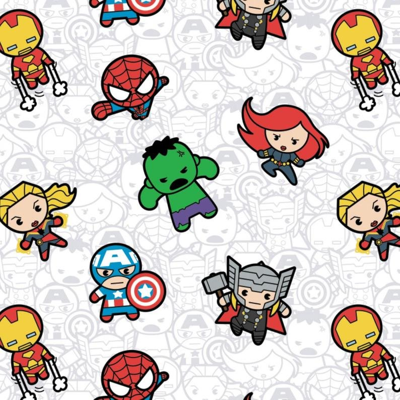 Action Packed Heroes Marvel Kawaii 13021000 01 White