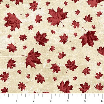 Canada 150 Years - Red Maple Leaves on Cream