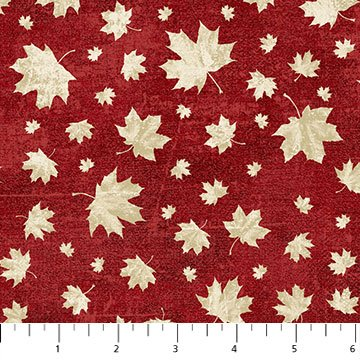 Canada 150 Years - Cream Maple Leaves on Red