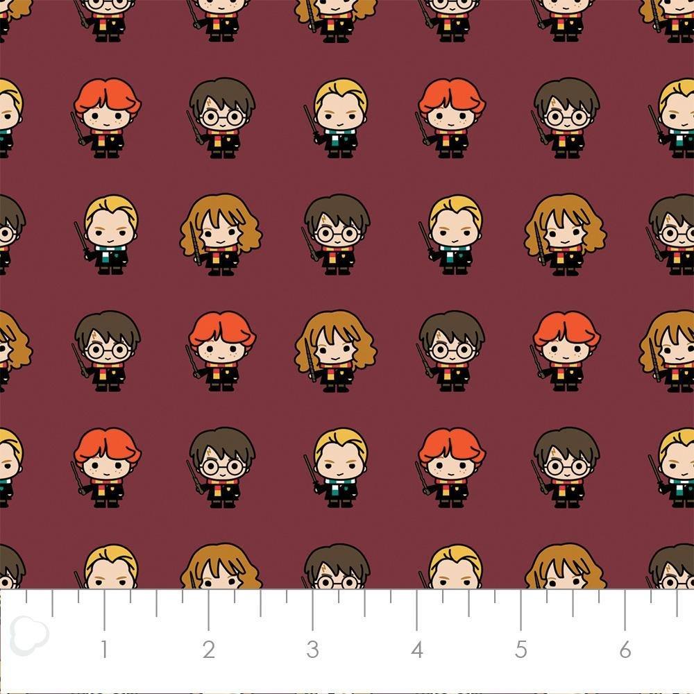 FLANNEL - Harry Potter Lined Up Kawaiis 23800225H 01 Burgundy