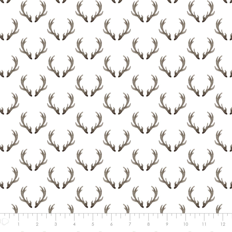 Winter Woods, Antlers in White  26180201J 02