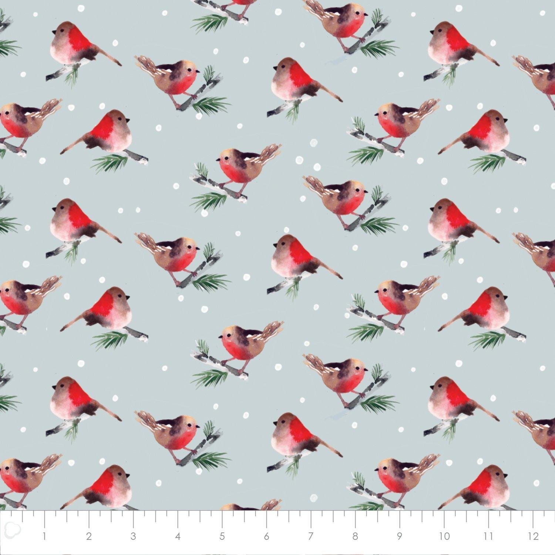 Winter Woods, Birds in Grey 26180203J 01