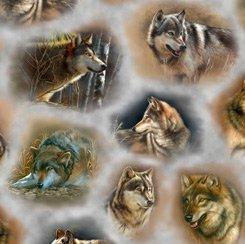 Majestic Wolves 28226 K Grey