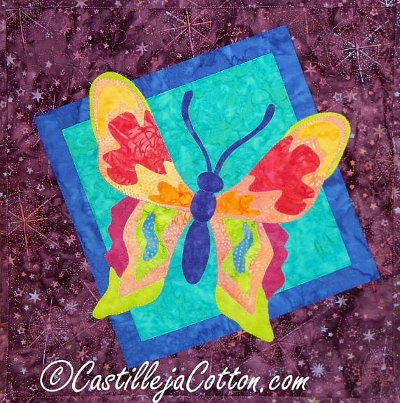 Artistic Butterfly Wall Quilt
