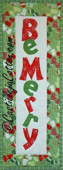 Be Merry Wall Quilt